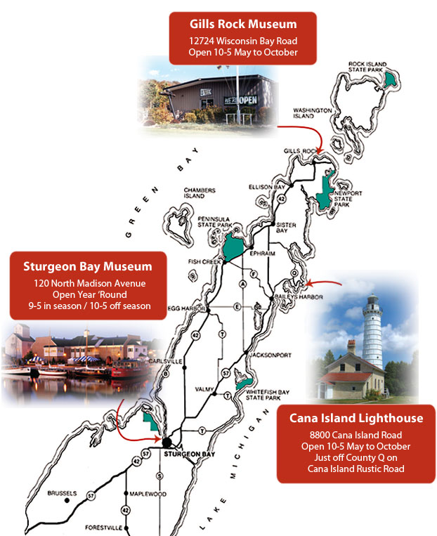 Door County Maritime Museum Locations